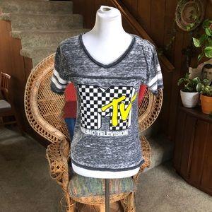 Vintage MTV Grey Burnout T-Shirt